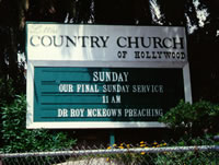 Country Church of Hollywood Sign